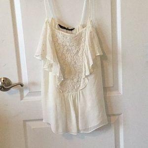 BRAND NEW: Zara white ruffle top